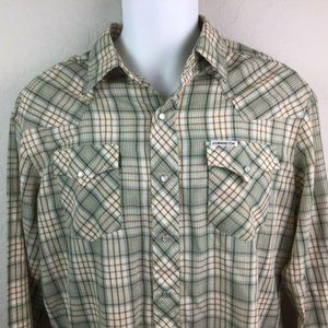 Vintage Kennington Western Ranch Wear Plaid Shirt